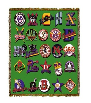 Negro League Baseball Logos Tapestry