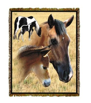 Horse Mare & Foal Tapestry