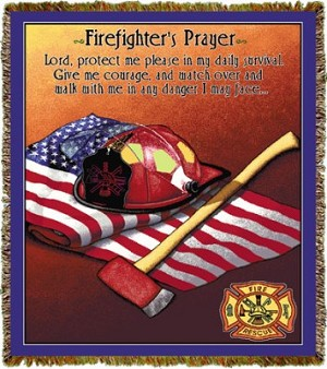 Firefighter Prayer Tapestry