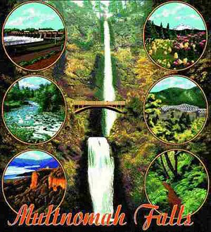 Multnomah Falls Oregon Tapestry