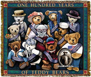 Teddy Bears Americana Tapestry