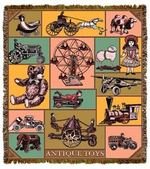 Antique Toys Tapestry
