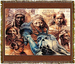 Native American Mother Of Exiles Tapestry