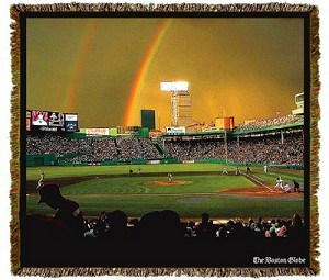 Boston Globe Fenway Rainbow Tapestry