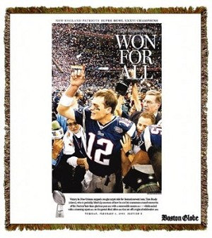 Boston Globe Triple Crowns Brady Tapestry