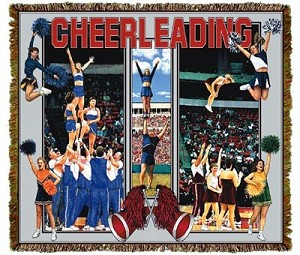 Cheerleading Action Tapestry