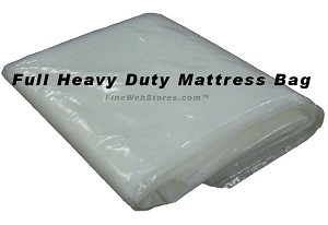 Heavy Duty Full Size Plastic Mattress Bag for moving or storage of your mattress, suitable for a pillowtop!