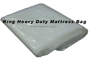King or Queen Size EXTRA Heavy Duty Plastic Mattress Bag for moving or storage of your mattress