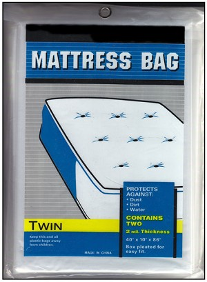 Twin Plastic Mattress Bag