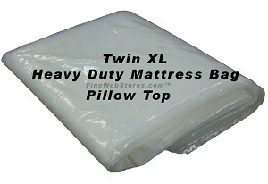 Heavy Duty Twin XL Plastic Mattress Bag Thick Enough For A Pillowtop
