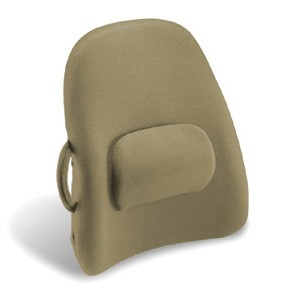 Lower Back Backrest Support With Lumbar Support In Taupe