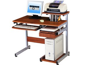 Tiny Wood Grain Multifunctional Computer Desk
