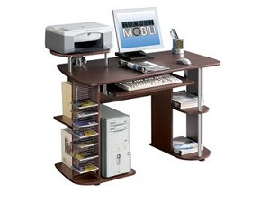 Small Chocolate Multifunctional Computer Desk