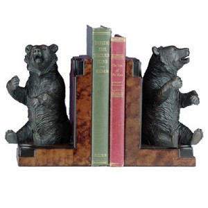 Complaining Bear Bookends