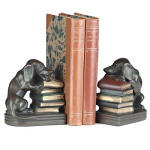 Dachshund Chewing Bookends