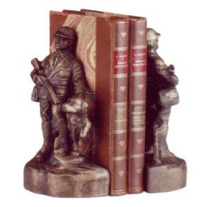 Hunter And Bird Dog Bookends
