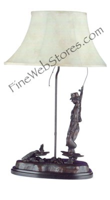 Fly Fisherman Lamp