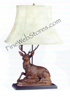 Laying Stag Lamp
