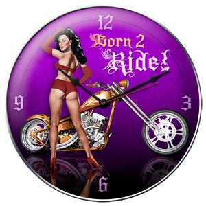 Born 2 Ride metal clock