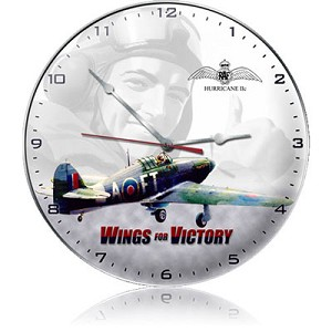 Wings For Victory Metal Clock