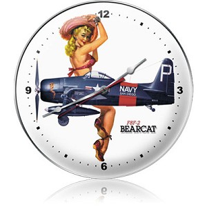F8F-2 Bearcat Metal Clock