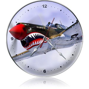 Nose Art Metal Clock