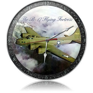 B-17 Fog Metal Clock