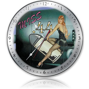 Miss 44 Metal Clock