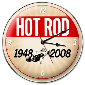 Hot Rod Magazine 60th Anniversary Metal Clock