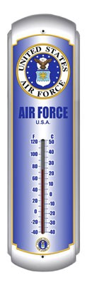 Air Force Metal Thermometer