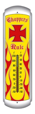 Choppers Rule Metal Thermometer