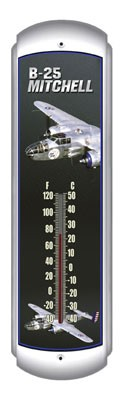 B-25 Mitchell Metal Thermometer