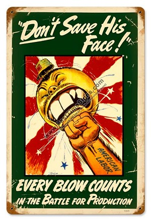 Every Blow Counts Vintage Metal Sign