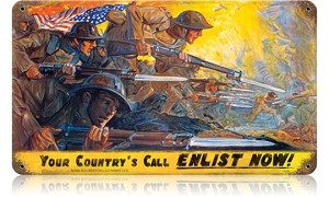 Your Country's Call Vintage Metal Sign