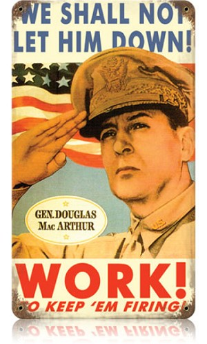 General MacArthur Vintage Metal Sign