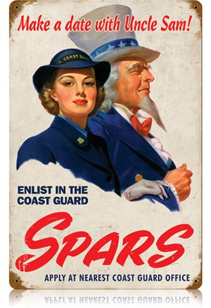 Spars Coast Guard Vintage Metal Sign