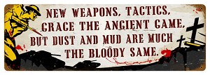 New Weapons Vintage Metal Sign