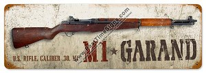 M1 Garand Rifle Vintage Metal Sign