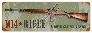 M14 Rifle Vintage Metal Sign