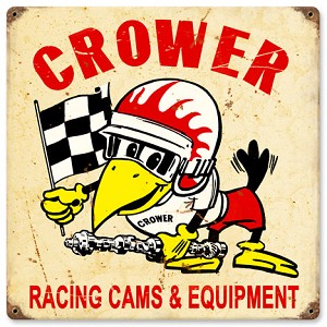 Cower Racing Cams Vintage Metal Sign