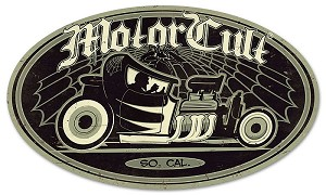 Motor Cult Afterhours Oval Metal Sign