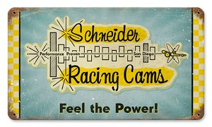 Schneider Horsepower Vintage Metal Sign