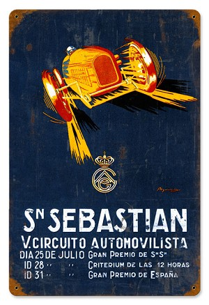 Sn Sebastian Vintage Metal Sign