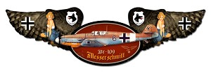 ME-109 Messerschmitt Winged Vintage Metal Sign