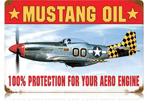 Mustang Oil Vintage Metal Sign