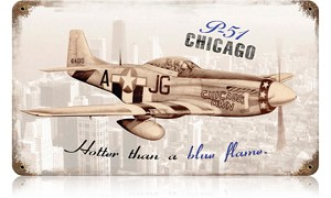 P-51 Chicago Vintage Metal Sign
