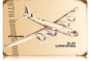 B-29 Superfortress Vintage Metal Sign