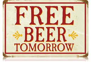 Free Beerl Vintage Metal Sign