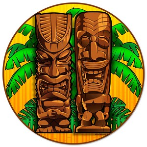 Tikis Round Metal Sign