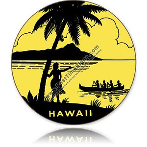 Hawaii Vintage Metal Sign